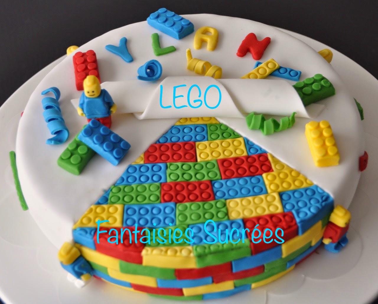 Fantaisies Sucrées: Gâteau 3D LEGO (LEGO birthday cake)