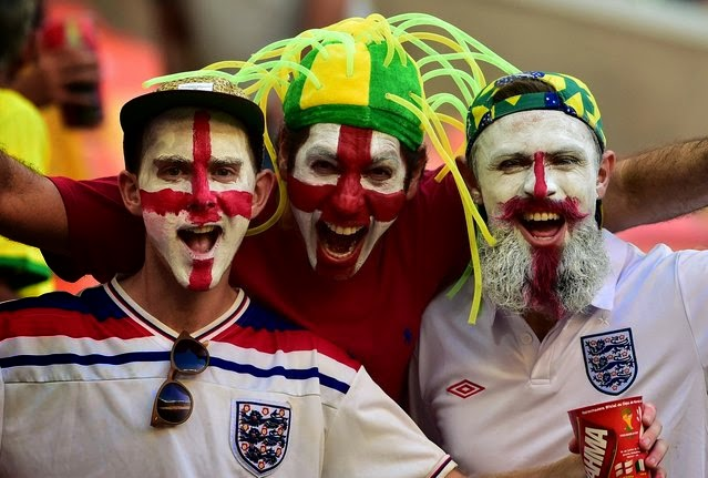 England fans with faces painted