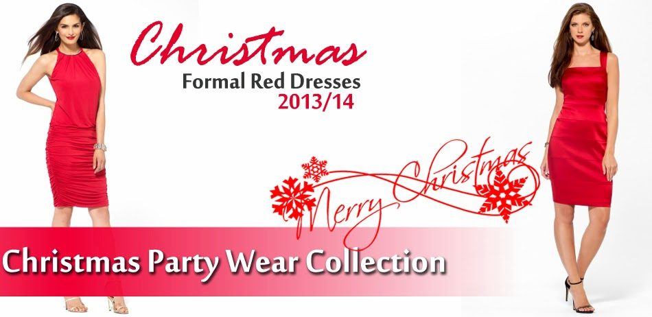 Christmas Party Wear Collection 2013-14 | Christmas Red Dresses ...
