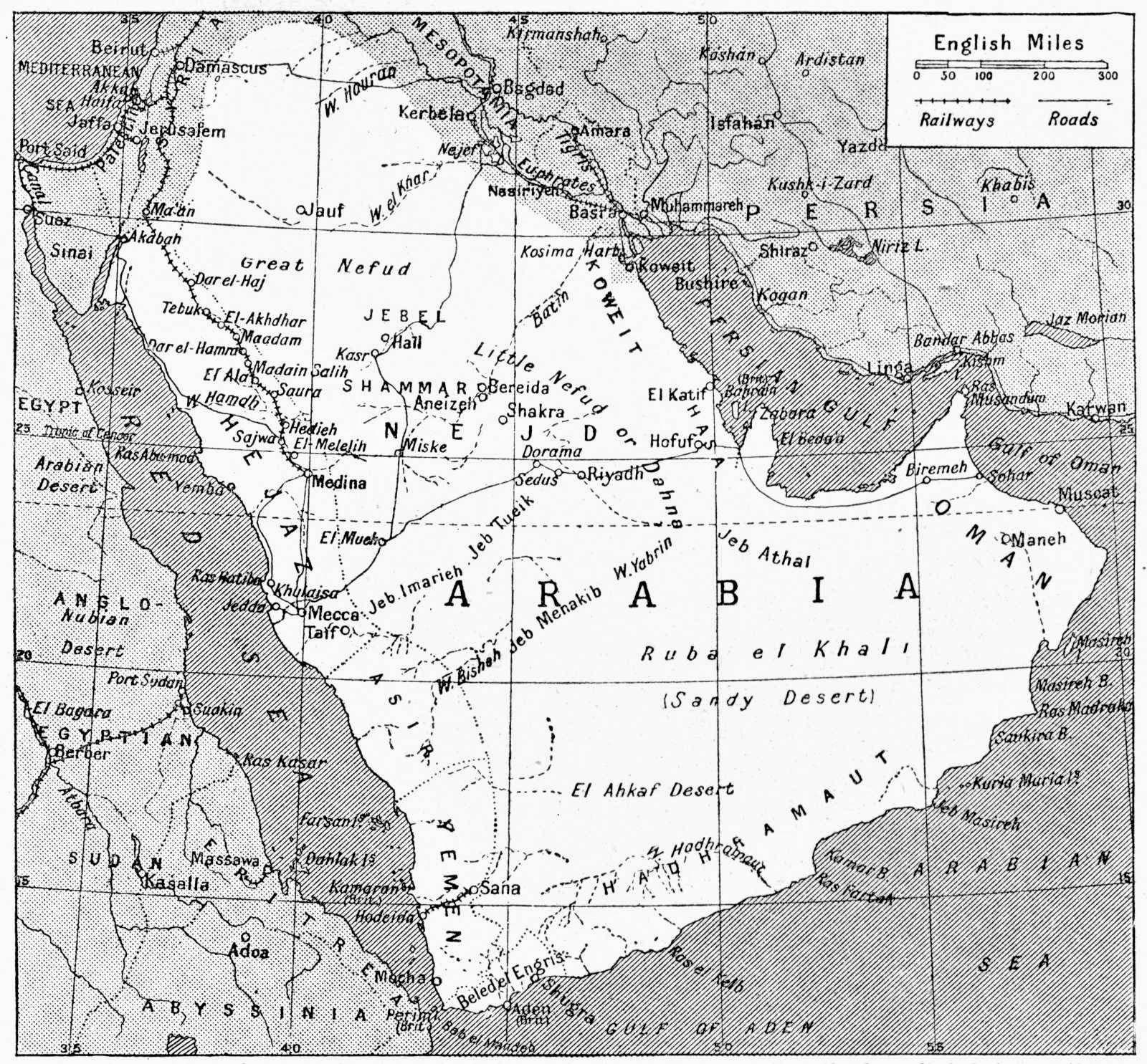 Arabian Anthropology – Map of Arabia