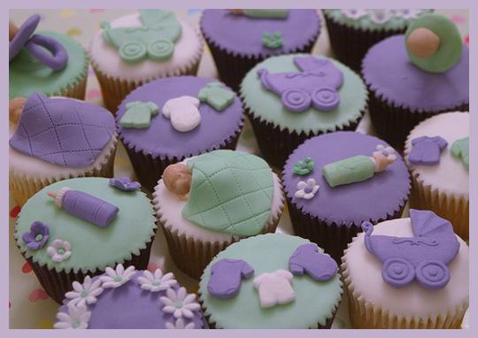 Baby Shower Temalı Örnek Cupcake Modelleri