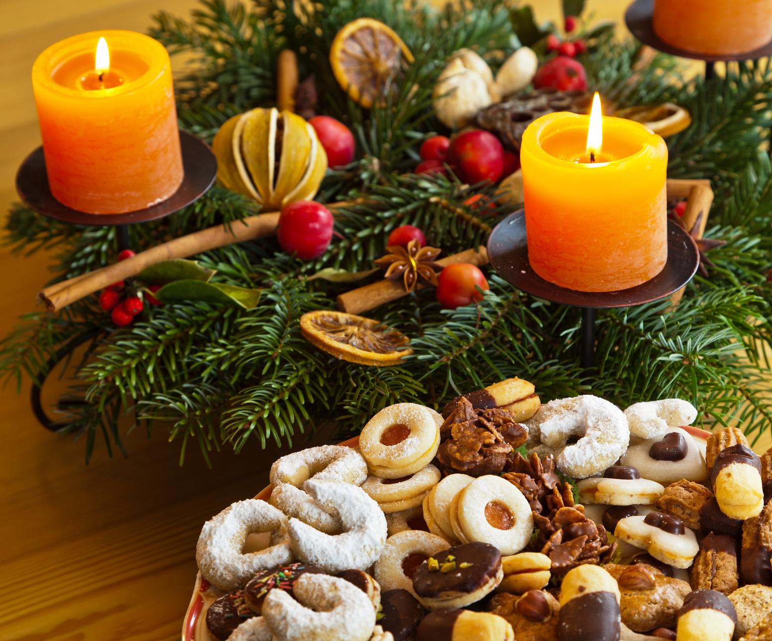 Banco de im genes cena de nochebuena navidad noche - Dekoration advent ...