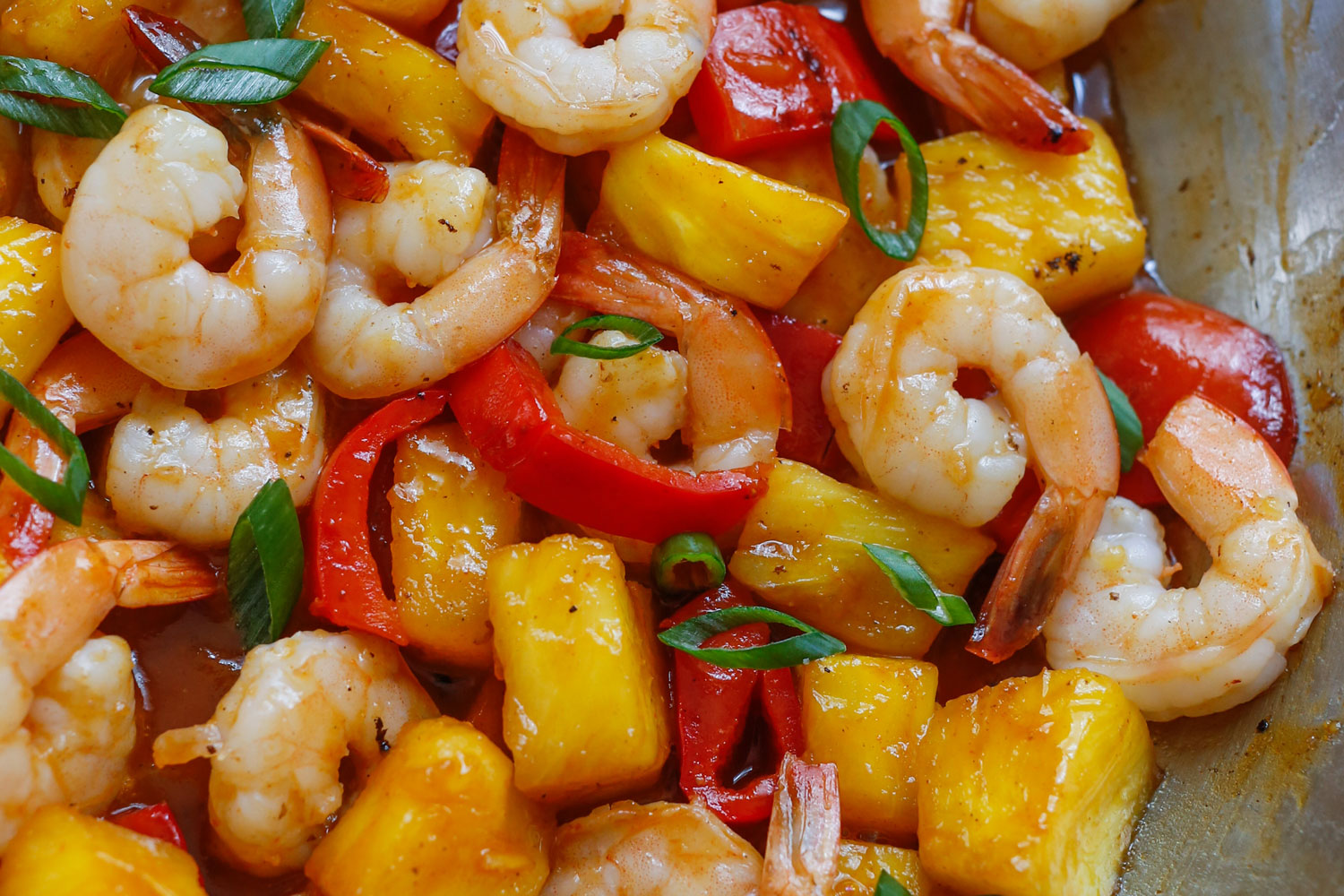 Pineapple BBQ Shrimp from Barefeet in the Kitchen [Recipe Round-Up at A Little Seed Grows]