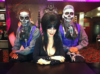 Elvira with zombie friends