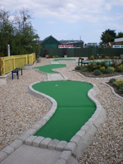 Minigolf at The Golden Palm Resort in Chapel St Leonards, near Skegness
