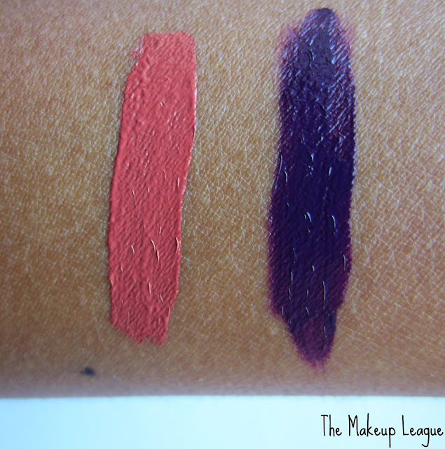 la girl matte flat finish gloss fleur black currant swatch
