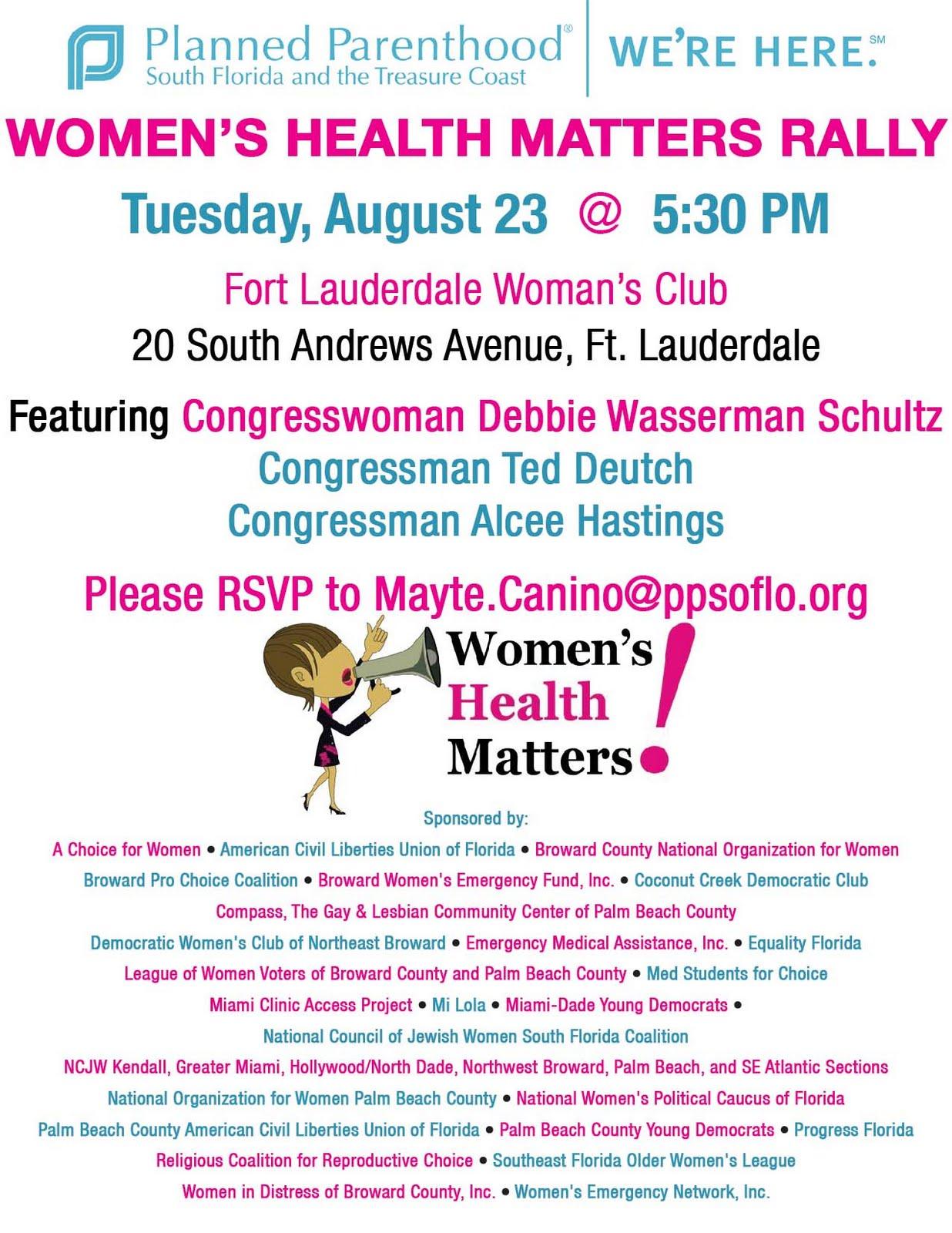 South Florida Womens Health Rally 823 Equality Florida