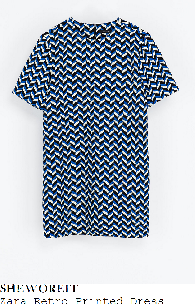 lauren-pope-blue-white-and-black-geometric-print-dress-towie