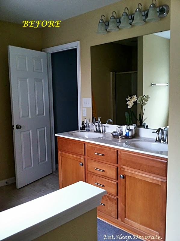 eat sleep decorate master bathroom updates paint cabinets