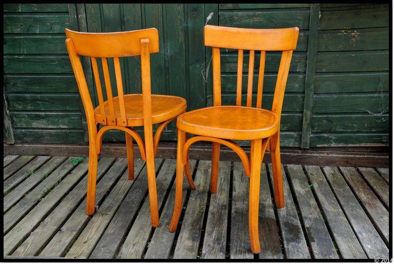 Ambiances bois patines chaise bistrot baumann for Chaise de bistrot en bois