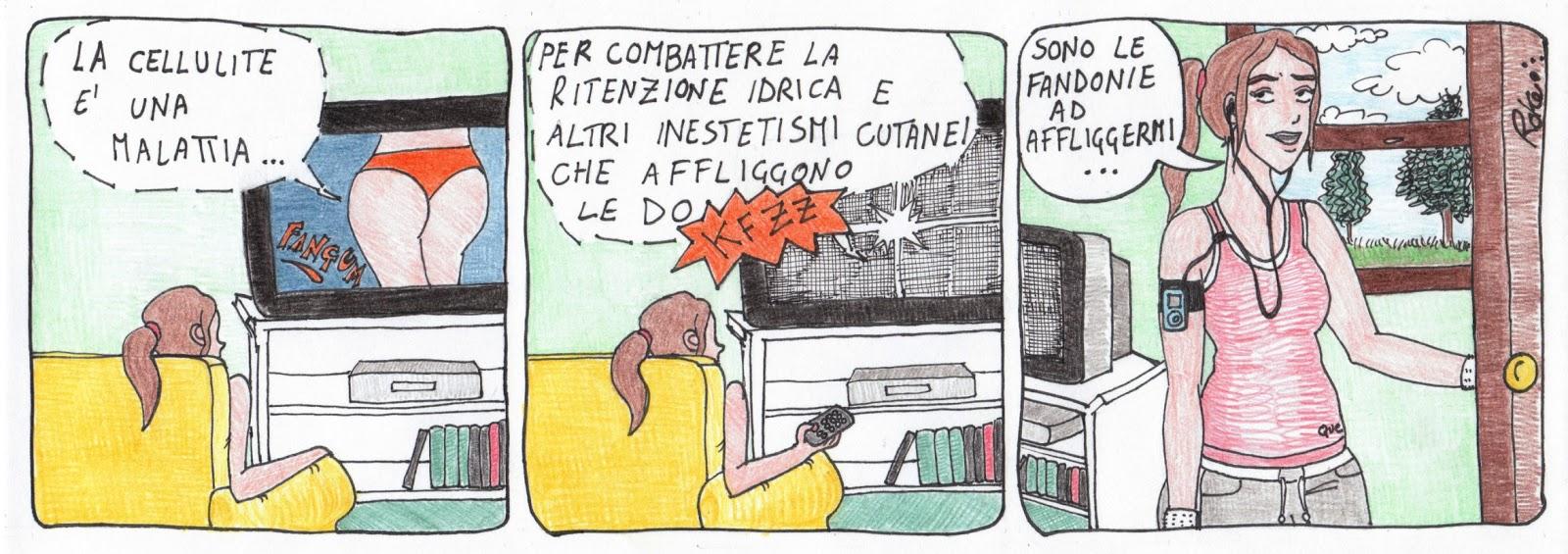 ritenzione idrica cellulite fandonie vignetta
