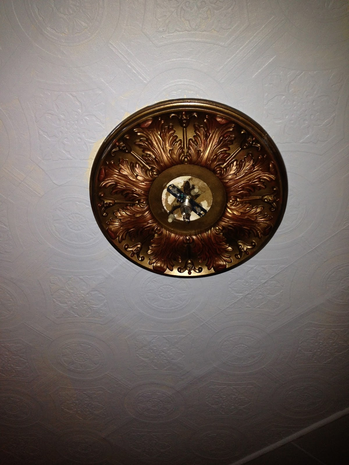 polyurethane large copper medallion ceiling products painted custom gold