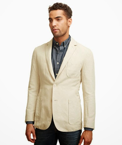 L.L. Bean Signature Cotton/Linen Sportcoat Preppy Fashion Menswear