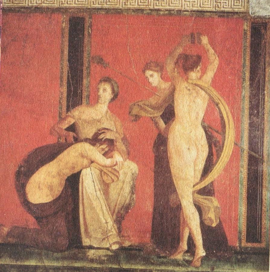 Fresco de la Villa de los Misterios