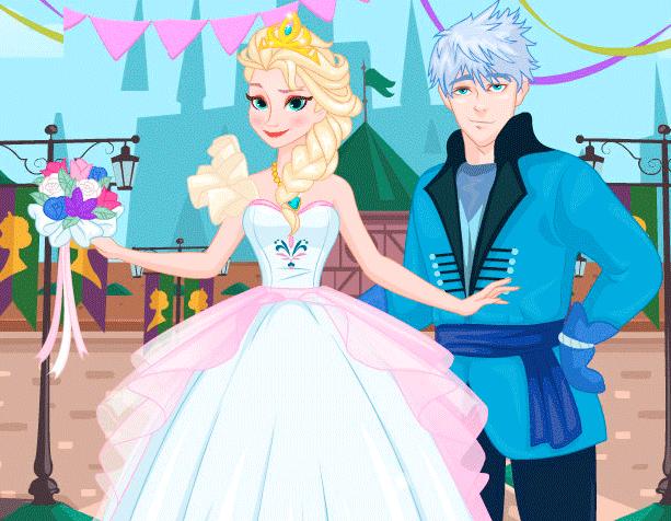 Vestido Novia Anna y Elsa Frozen