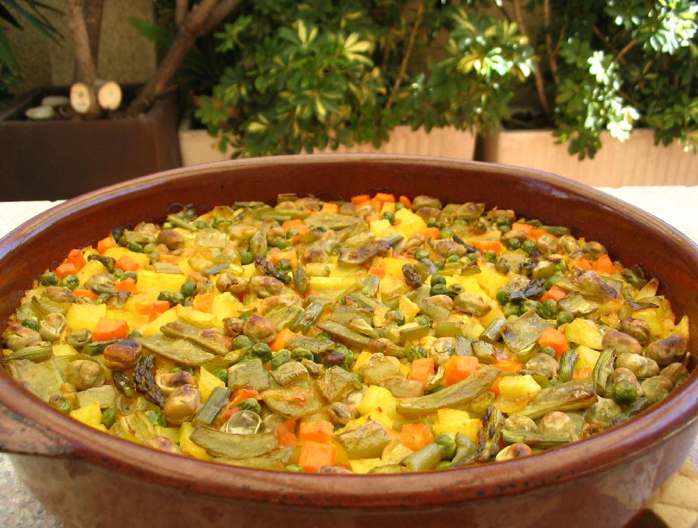 La cuchara curiosa arroz con verduras al horno - Arroz con pescado y verduras ...