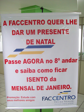 BANNER ADESIVADO ESCOLA FACCENTRO FILIAL TAUBATÉ-SP