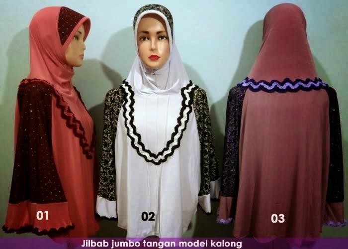 jilbab syari menutupi dada