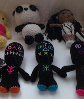 A fraction of the large collection of amigurumi pieces on display, on loan from Adelaide-based artist Richard Boyd.