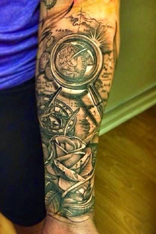 Tatuajes de brjulas  Belagoria  la web de los tatuajes
