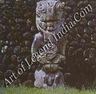 Tahitian religion centred on the worship of gods and ancestral spirits and could involve human sacrifice. Sorcerers used wooden images, known as ti'i, when mobilizing the spirits to harm their enemies.