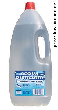 Acqua distillata prezzo al litro