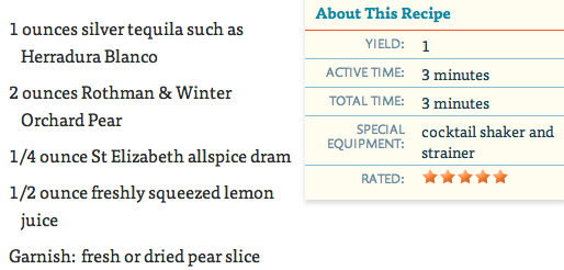 Thirsty Thursday: Jalisco Pear Cocktail + Fall Sales: J.Crew, Serena ...