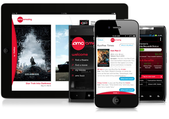 amc theatres releases new mobile app featuring runpee