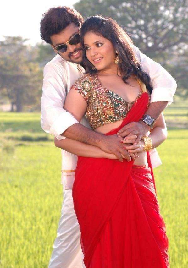 INDIAN ACTRESS: Anjali Tamil actress red backless saree ...