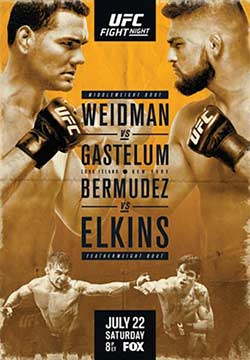 UFC Fight Night On Fox 25 Weidman vs Gastelum Preliminary Fights 22nd July 2017 Full Download HD 480p at 9966132.com