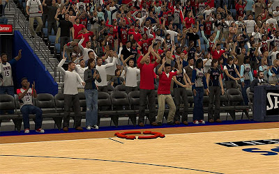 NBA 2K13 Atlanta Hawks Sideline Stadium Crowd Fix