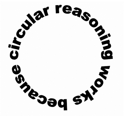 discuss realised circular reasoning involved pointless