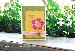Blütenkarte mit Stempelset Something for Baby von Stampin' Up!