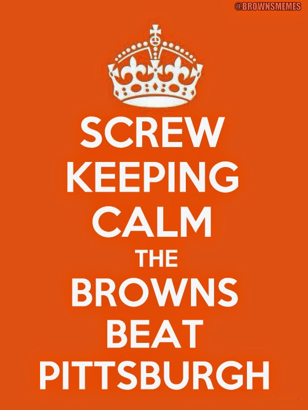 Cleveland Browns vs Pittsburgh Steelers funny NFL football memes