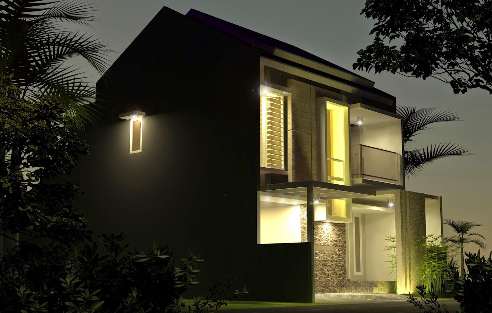 Rumah Dengan Fasade Opini di Kediri