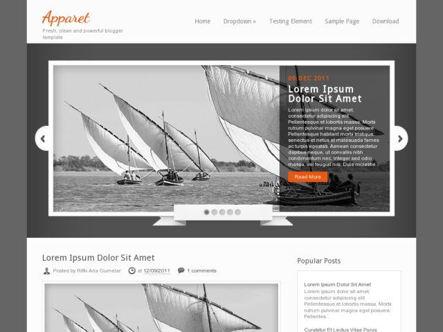 Apparet Blogger Template