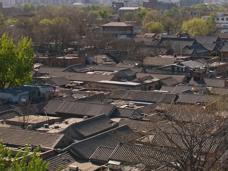 Toits de hutong à Pékin
