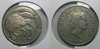 new zealand 20 cent 1989