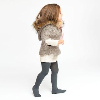 poncho de lana niña