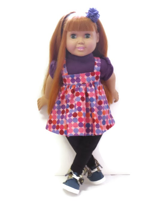 hip hop dots for American Girl/Springfield Dolls by CelenaLei