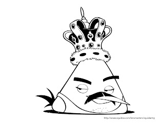 angry birds coloring pages - freddie mercury