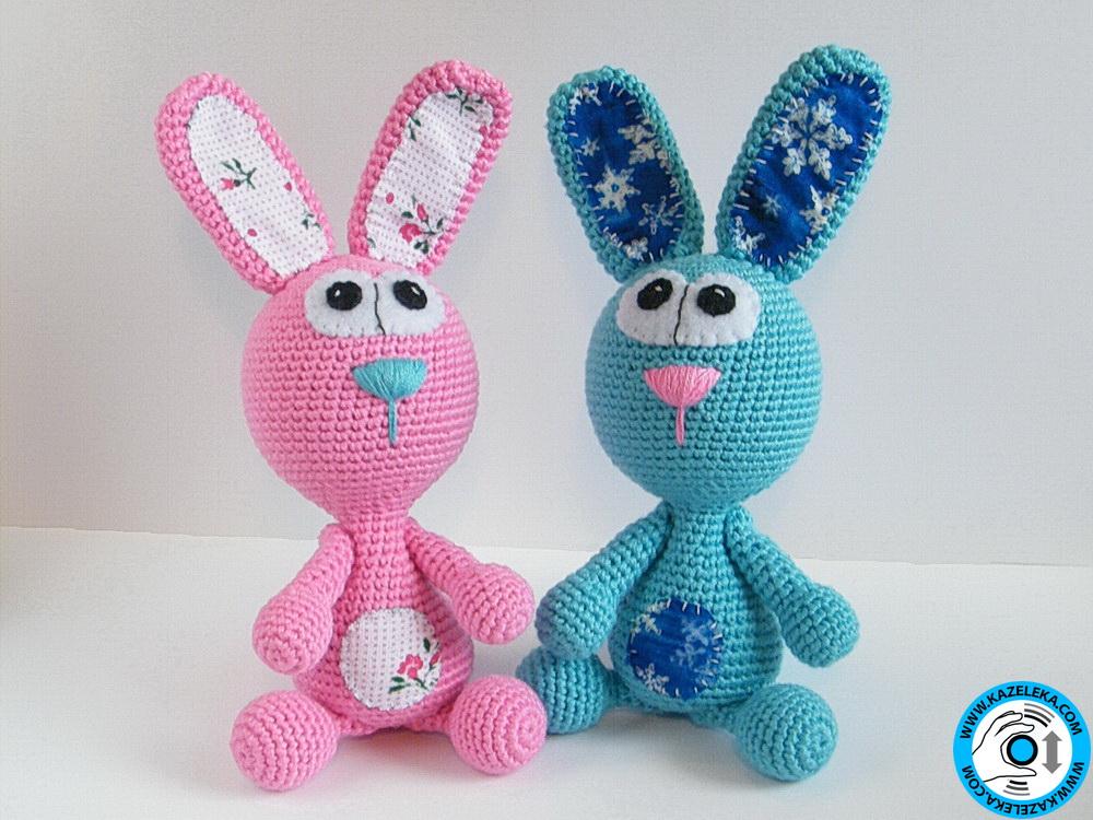 вязаные зайцы - crochet rabbits