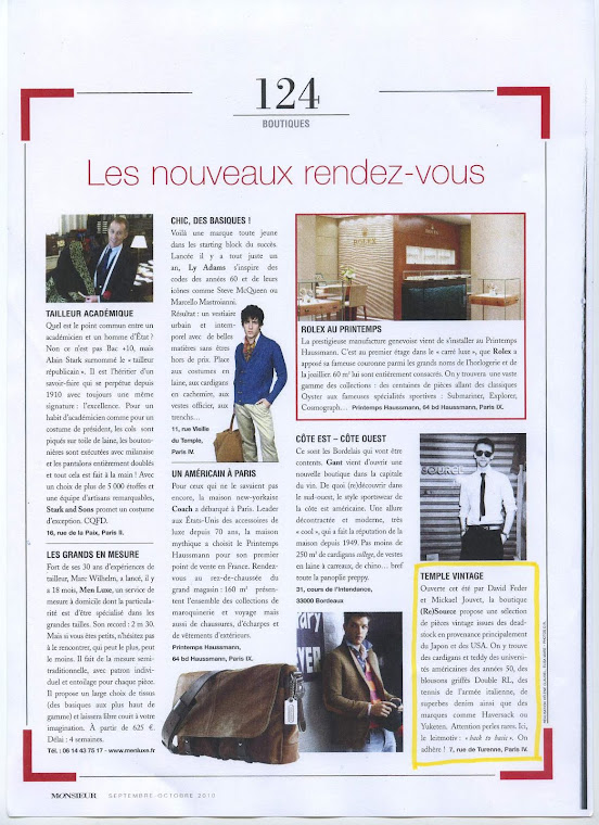 article Monsieur magazine