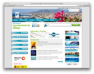 Portal principal del Ayuntamiento Malaga.eu
