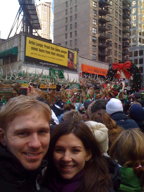 Santa's sleigh macy's parade