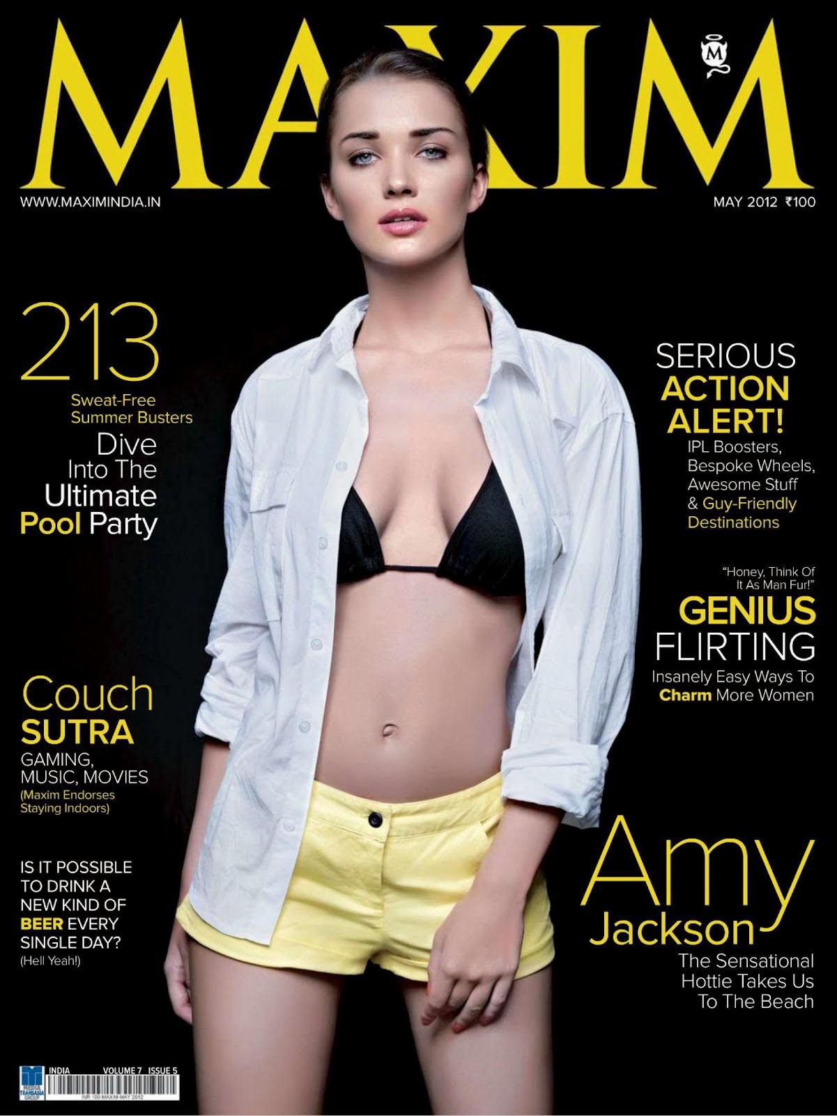 Amy Jackson's Maxim Magazine India May 2012 HQ Scans(Complete Set ...