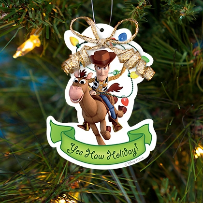 get these free printable toy story christmas ornaments courtesy of disney they feature woody and buzz lightyear you can print on regular heavy paper to - Toy Story Christmas Special