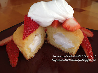 Strawberry Fun da-middles Shortcake | Addicted to Recipes