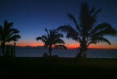 A lovely sunrise at Swain's Cay Lodge, Andros Bahamas