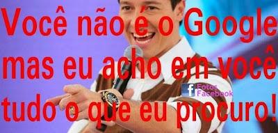 Cantadas de Rodrigo Faro no Facebook